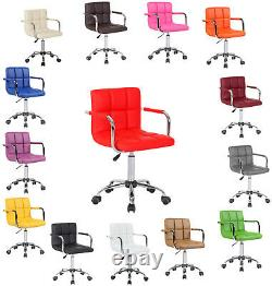 Office Computer Shop Home Faux Leather Chair Swivel Studio Salon Barber Stool UK