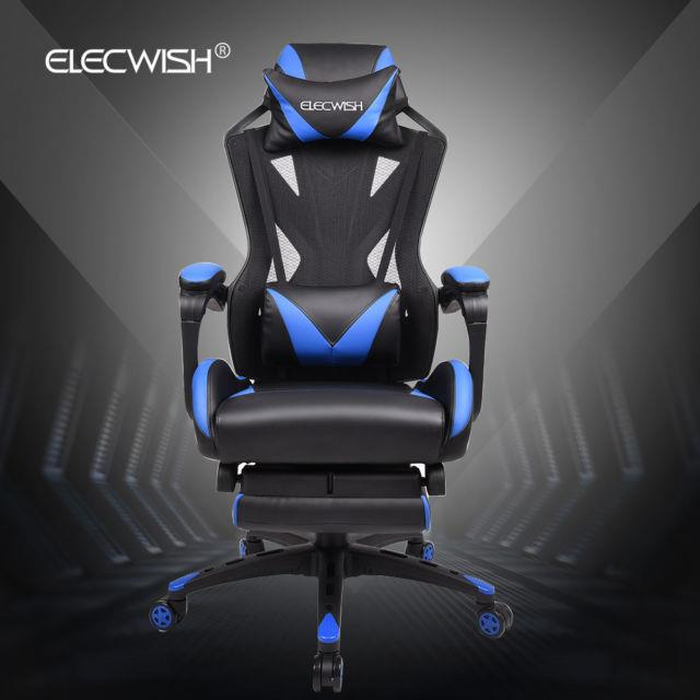 Office Gaming Chair Computer Sport Desk Seat Swivel Adjustable High Back Leather