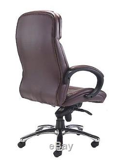 Office Hippo Executive Office Chair Premium Grade Brown Leather