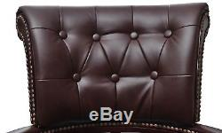 Office Leather Chair Chesterfield Captain Swivel Brown Executive Chair Luxury