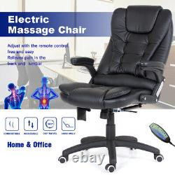 Office Massage Chair Home Electric Executive Ergonomic Gas Lift Adjustable Black
