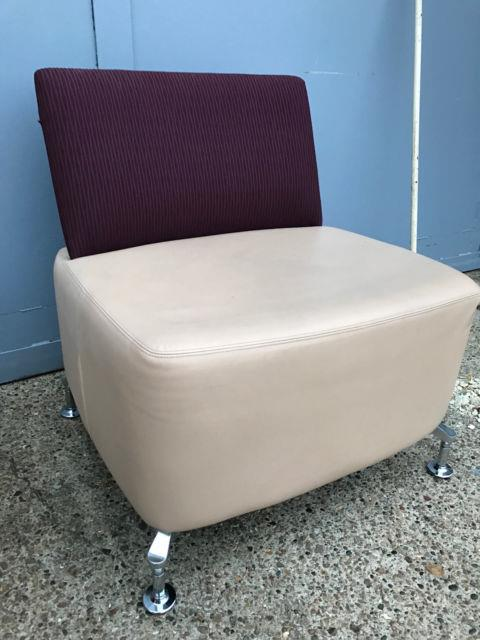 Orangebox Path 01 Chair Leather Office Soft Seating Designer Reception Chairs