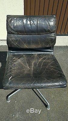 Original Black Leather Eames Soft Pad Office Chair Sensible offers accepted