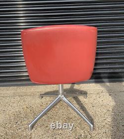 Original Boss Design Kruze Office Swivel Chair Red Fabric Chrome Retro Designer