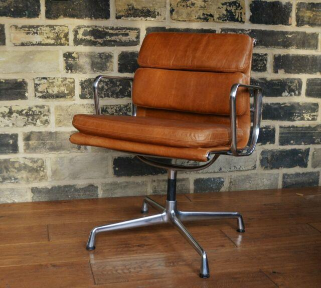 Original Eames- Vitra Soft Pad Chair/ New Leather Upholstery