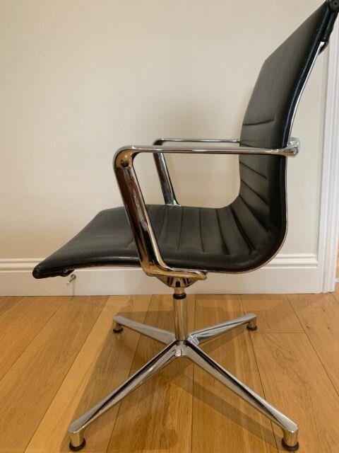 Original Icf Eames Office Chair, Ea108, Black Leather- Rrp +£1500