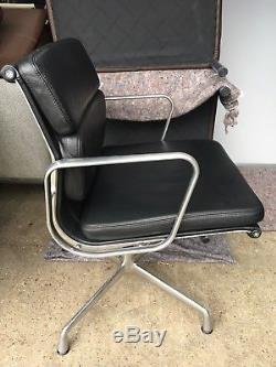 Original Vitra Ea208 Charles & Ray Eames Leather Softpad Office Chair+