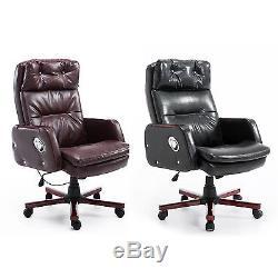 PU Leather Computer Office Chair Adjustable Armrest 360 Degree Ergonomic Design