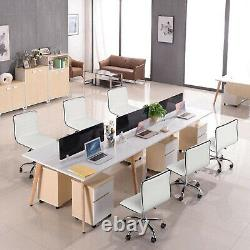 PU Leather Office Chair Small Computer Desk Chair Armless Lift Swivel Kids Study