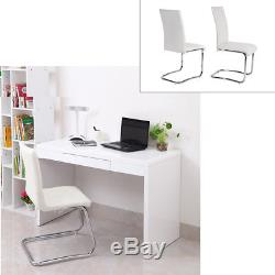 Panana 6 PCS High Back Dining Leather Chairs Chrome Leg Office Home Furniture