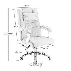 Pink Office Chair Computer Desk Swivel Recliner Work Chair Padded Seat Chair