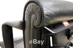 Poltrona Frau Forum President Black Leather Executive Office Chair RRP £3,800