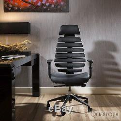 Quatropi Design Ergomomic Luxury Executive Black Leather Office Chair