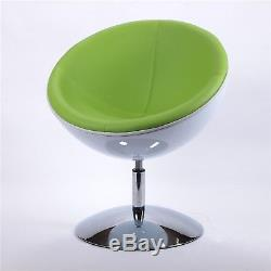 RETRO BOWL CHAIR black-black swivel armchair, lounge design, space age