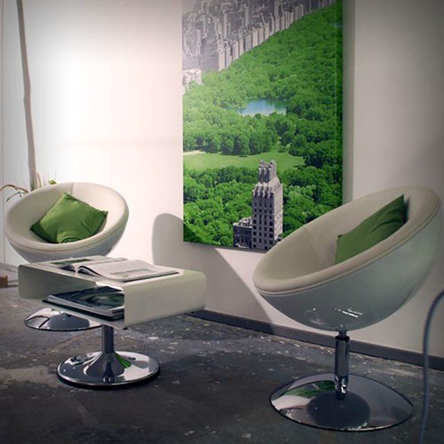 Retro Bowl Chair White-white Swivel Armchair, Lounge Design, Space Age