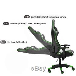 RG-MAX Pro Reclining Sports Racing Gaming Office Desk PC Fx Leather Chair Green