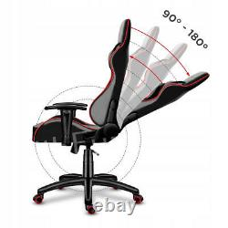 RGB Gaming Office Chair Racing Computer Chair Swivel Recliner Leather Executive