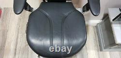 RH Logic 400 Black Leather Orthopaedic Ergonomic Swivel Office Desk Chair