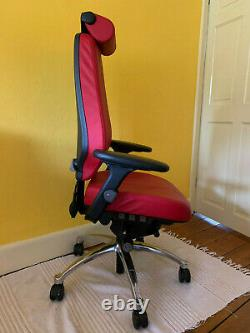 RH Logic 400 Elite Office/Task Chair in Red Leather
