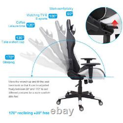 Racing Car Gaming Chair Computer Office PU Leather Recliner Executive Swivel