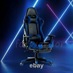 Racing Gaming Chair Computer Desk Office Chair Executive Swivel Recliner Leather