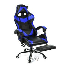 Racing Gaming Chair High Back Office Chair Recliner Computer Leather Swivel Desk
