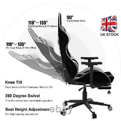 Racing Gaming Chair Office Executive Swivel PU Leather Sport Computer Desk Chair