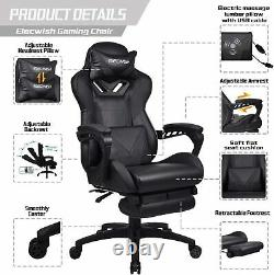 Racing Gaming Chair Swivel Computer Desk Office Chair Massage Recliner Massage