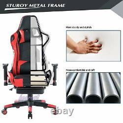 Racing Gaming Chair Swivel Lift Computer Desk Leather Office Chairs Teens Kids