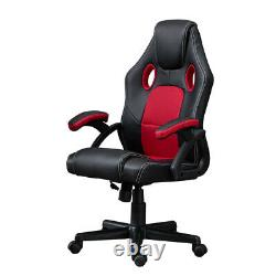 Racing Gaming Chair Swivel Office Computer Desk Chair PU Leather Ergonomic Home