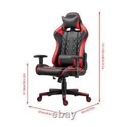 Racing Gaming Chairs Office Computer Desk Chairs with Swivel Recliner Leather UK