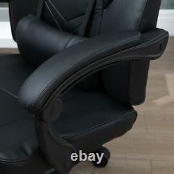 Racing Gaming Chairs Office Executive Swivel Leather Computer Desk Chair Black