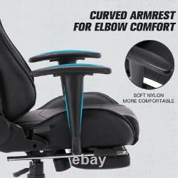 Racing Gaming Chairs with Footrest Swivel Office Chair Computer Desk Chair UK