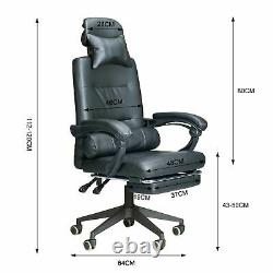 Racing Gaming Executive Computer Chair Swivel Office Desk Recliner with Footrest