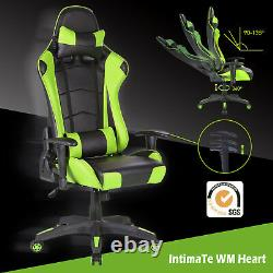 Racing Gaming Office Chair Adjustable Leather Swivel Computer Executive Recliner