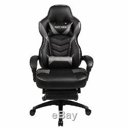 Racing Gaming Office Chair Ergonomic High Back Leather Seat Recliner with Footrest