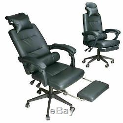 Racing Gaming Office Chair Executive Lumbar Support Swivel Pu Leather Computer