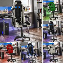 Racing Gaming Office Chair Executive Swivel Home Recliner Leather Computer Desk