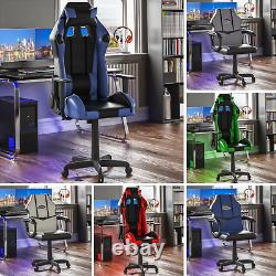 Racing Gaming Office Chair PC Executive Home Recliner Swivel Wheels Leather