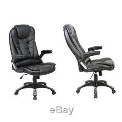 (Recliner Black) Neo Executive Leather Gaming Computer Desk Office Swivel