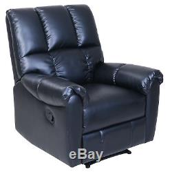 Recliner Chair Home Office Reclining Relax Seat Soft Durable Leather-like Fabric