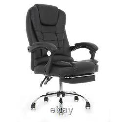 Recliner Soft Leather Executive Luxury Computer Chair Office Gaming Swivel