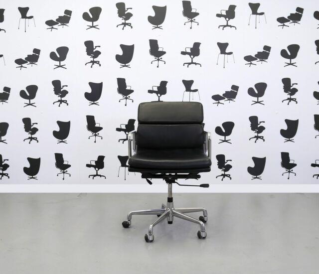 Refurbished Icf Charles Eames Ea217 Soft Pad Black
