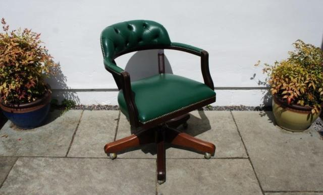 Reproduction Leather, Low Back, Directors Office Chair, Swivel, Adjustable