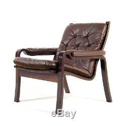 Retro Vintage Danish Rosewood & Leather Easy Chair Armchair 50s 60s Scandinavian