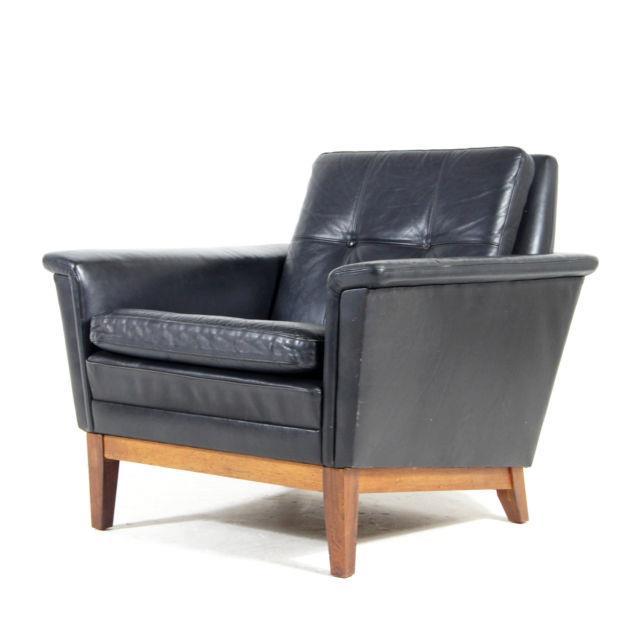 Retro Vintage Danish Teak Leather Easy Chair Armchair 1960s Mogensen Mid Century