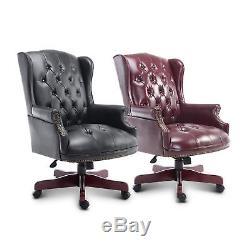 Rolling Executive Chair Office PU Padded Swivel Adjust Computer Seat Ergonomic