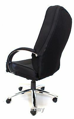 Rome 2 Black Fabric Executive Managers Computer Office Chair BUILT Graded 95%