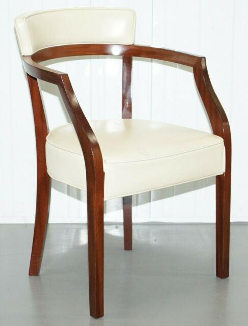Rrp £1629 Cream Leather Driade Neoz Armchair By Philippe Starck Desk Office Seat