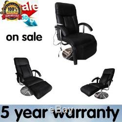 Sale Massage Chair Electric Artificial Leather Black Adjustable Home Office UK